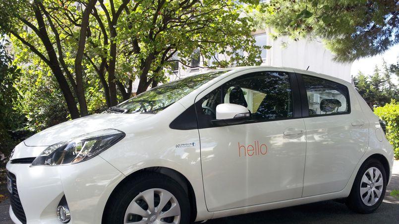 Une vingtaine de Toyota Yaris intègrent la flotte en autopartage d'Orange. (DR)