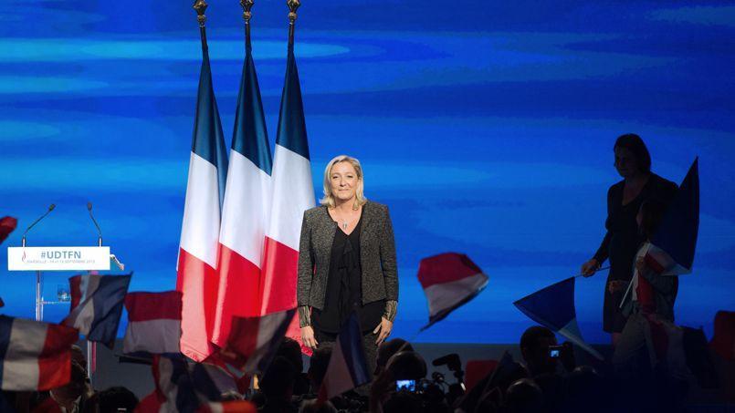 Marine Le Pen lors de l'université d'été du FN, le 15 septembre à Marseille.