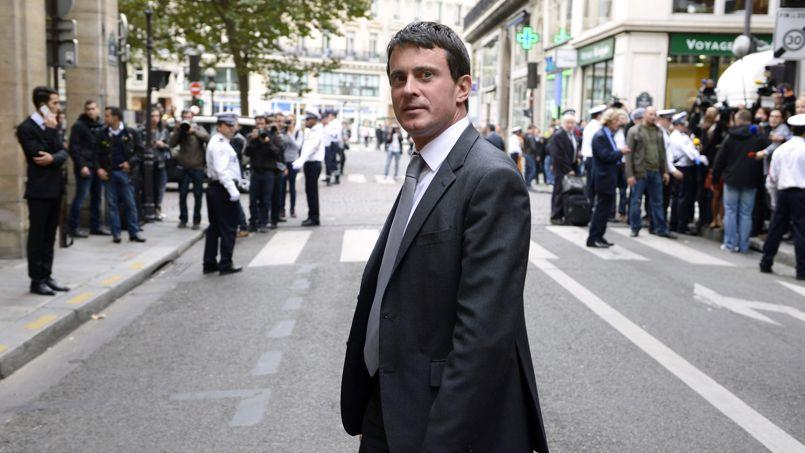 Manuel Valls, jeudi, à Paris.