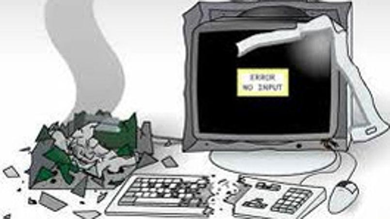16% des Français agacés par un PC trop lent l'auraient piétiné ou lancé contre un mur.