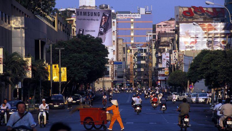 La ville de Saigon au VIetnam.