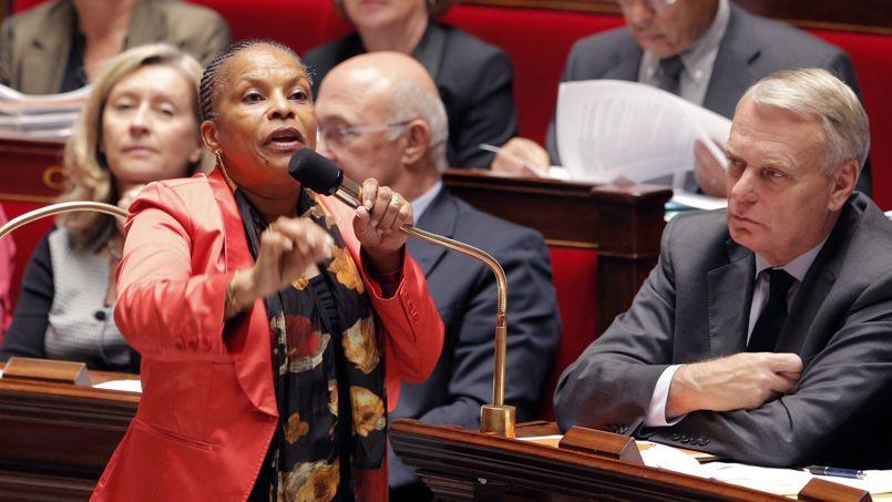Christiane Taubira à l'Assemblée nationale mercredi.