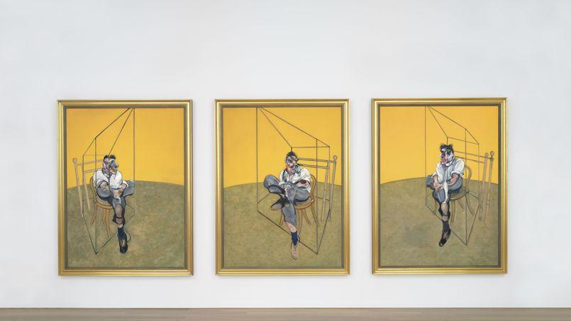 Francis Bacon, Three Studies of Lucian Freud, huile sur toile (198 x 147,5 cm), datée de 1969. Crédit: Christie's image 2013.