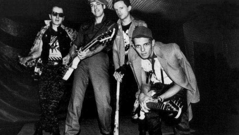 Les Clash, en 1983: Joe Strummer, Mick Jones, Terry Chimes et Paul Simonon (de gauche à droite).