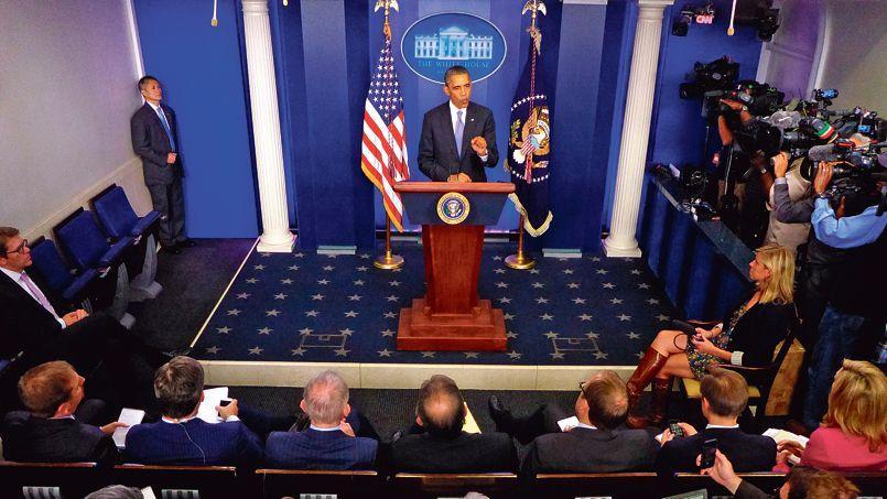 Barack Obama, en conférence de presse, mercredi à la Maison-Blanche.
