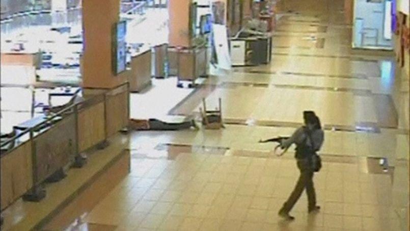 Un des assaillants islamistes, filmé par des caméras de surveillance de Westgate.