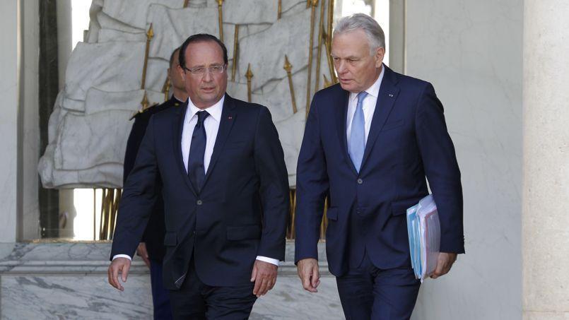 François Hollande et Jean-Marc Ayrault à l'Élysée.