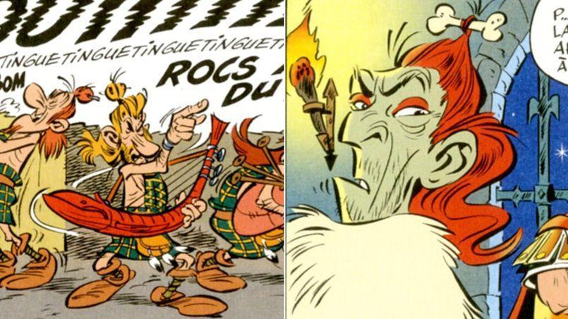 Johnny Hallyday en Mac Keul (à gauche) et Vincent Cassel en Mac Abbeh (à droite) dans Astérix chez les Pictes.