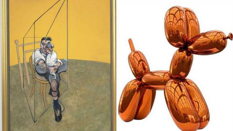 Trois Études de Lucien Freud, le fameux triptyque de Francis Bacon adjugé à 142,4 millions de dollars, et le non moins célèbre Balloon Dog de Jeff Koons vendu à 58, 4 millions de dollars: les records du monde ont été battus lors de la vente Christie's de New York.