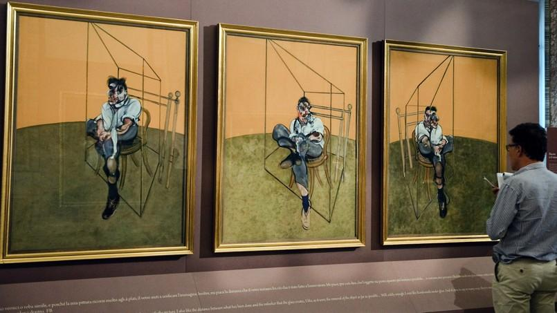 Plus de 10.000 personnes sont venus chez Chrisite's admirer l'œuvre de Francis Bacon.