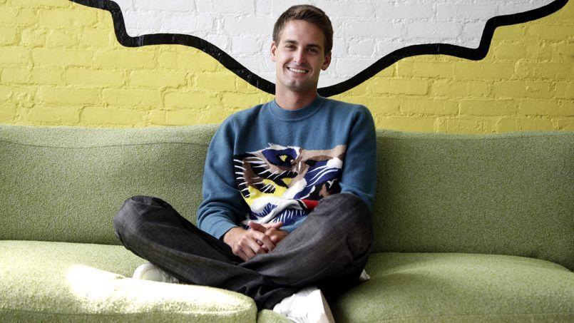 Evan Spiegel, 23 ans, cocréateur, avec Bobby Murphy, de l'application de messages mobiles Snapchat.