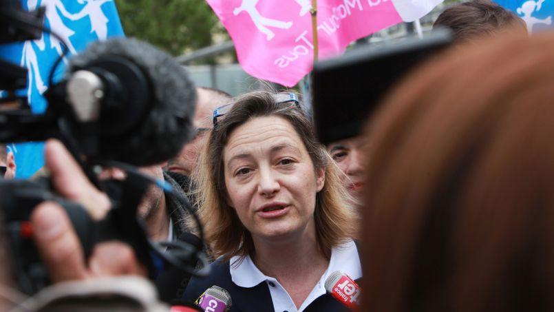 Ludovine de la Rochère, présidentede la Manif pour tous, en mai 2013 à Paris.