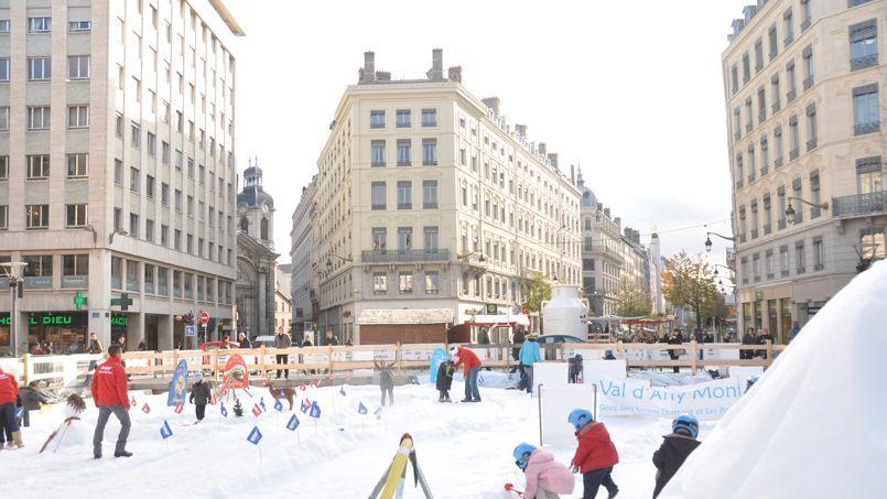 Jardin des neiges sur la place de la République, à Lyon (DR).