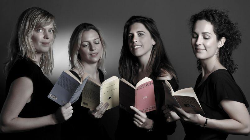 De gauche à droite: Anne-Flore Brunet, Amandine Péchiodat, Fany Péchiodat et Céline Orjubin.