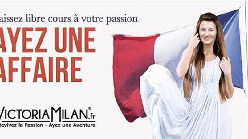 Le site Victoriamilan.fr utilise l'image de Ségolène Royal en Liberté guidant le peuple pour sa nouvelle campagne de promotion de l'infidélité.