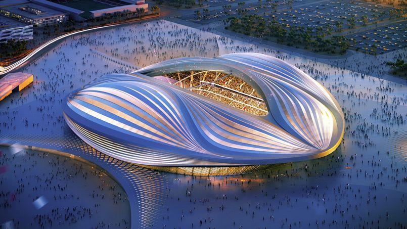 Le futur stade Al-Wakrah, desormais connu comme le «Vagina stadium»
