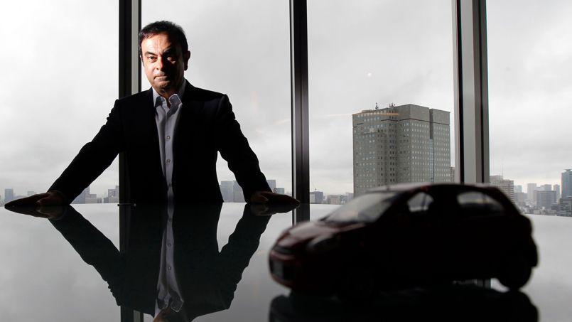 Carlos Ghosn, PDG de Renault - Nissan, dans son bureau de Tokyo. Un ego assumé doublé d'une hyperrationalité.