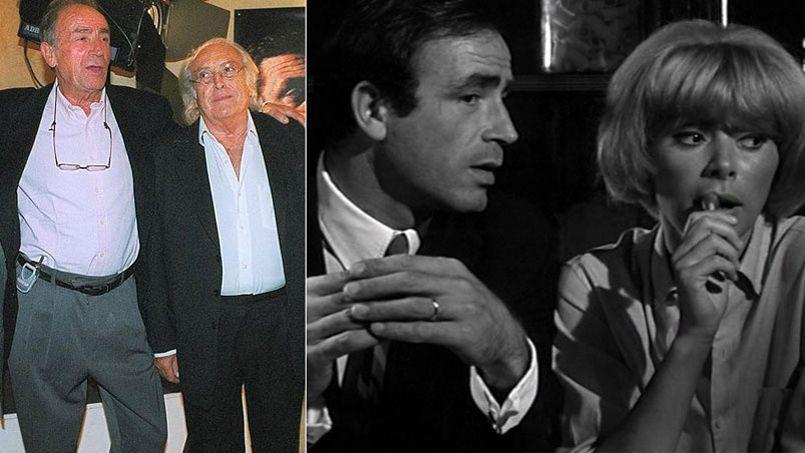 Venantino Venantini avec Georges Lautner, en 2012, et dans Galia (1966) aux côtés de Mireille Darc.