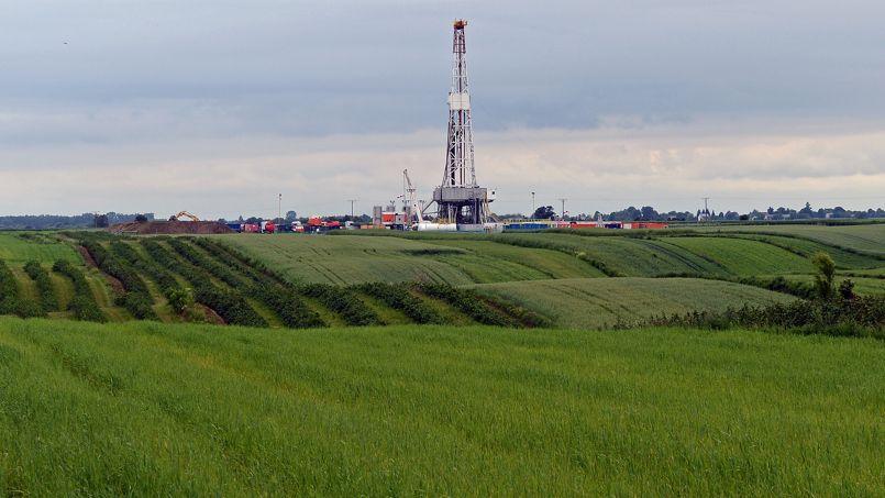 Forage de la compagnie Chevron dans le sud-est de la Pologne, juin 2013. Crédits: Janek Skarzynski/AFP