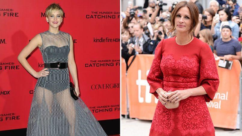 Dans une interview à MTV, Julia Roberts (à droite) a émis quelques réserves quand à la récente popularité de Jennifer Lawrence (à gauche).