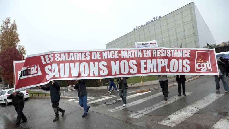 Le 21 novembre dernier, les salariés de Nice-Matin se mobilisaient pour protester contre le plan de restructuration proposé par la direction du groupe.