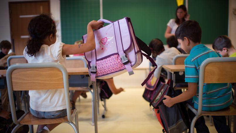 Une classe d'école primaire à Paris, le jour de la rentrée, en septembre 2013.