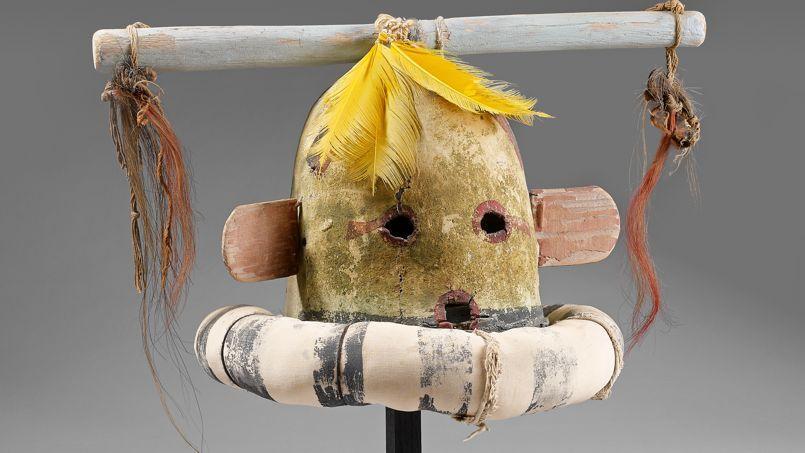 Masque Kachina Hakto Hopi Arizona Fin XIXe siècle.