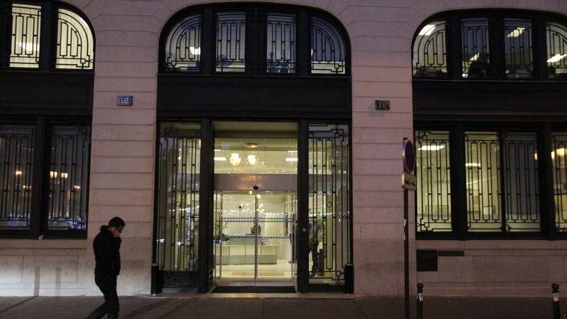 Le siège du groupe Nouvel Observateur, place de la Bourse, à Paris.