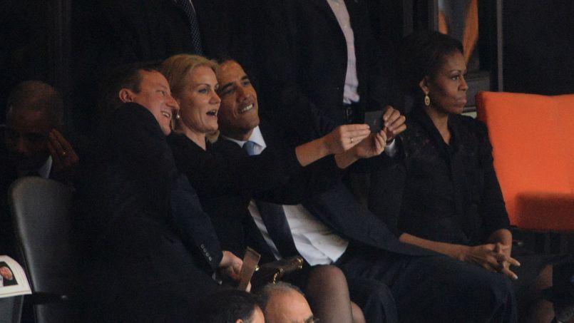 Le «selfie» d'Obama lors de la cérémonie d'hommage à Mandela