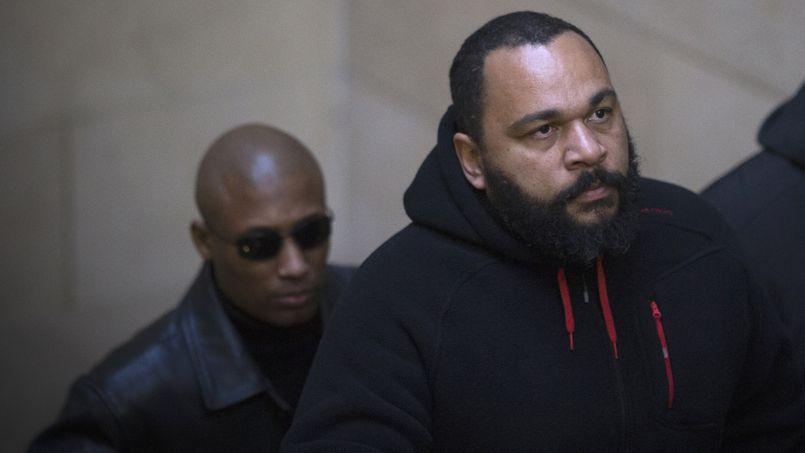 Dieudonne Mbala Mbala vendredi au tribunal de Paris.