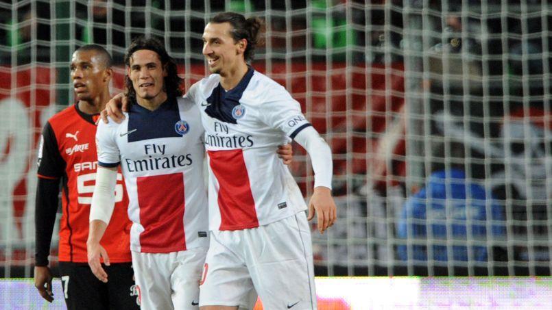 Le PSG comptera de nouveau sur ses deux stars en attaque, Edinson Cavani (à gauche) et Zlatan Ibrahimovic, pour se qualifier en quarts de finale de la Ligue des champions.