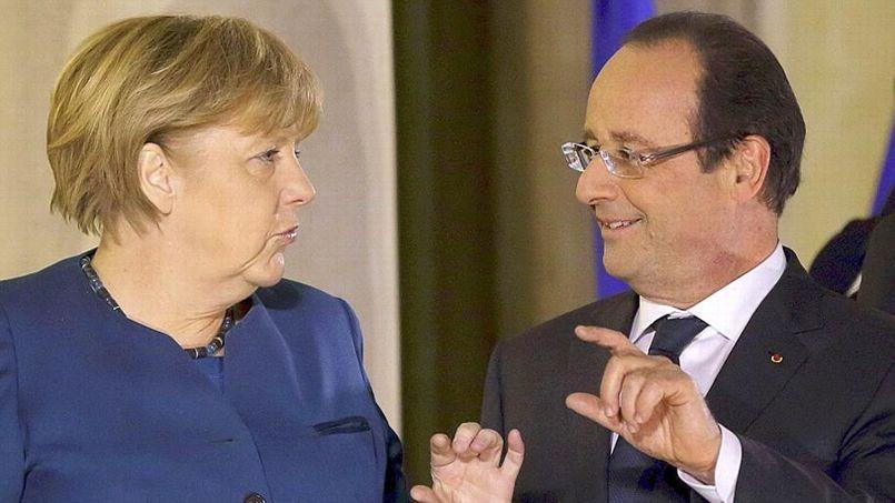 Angela Merkel et François Hollande, ce mercredi, à l'Élysée