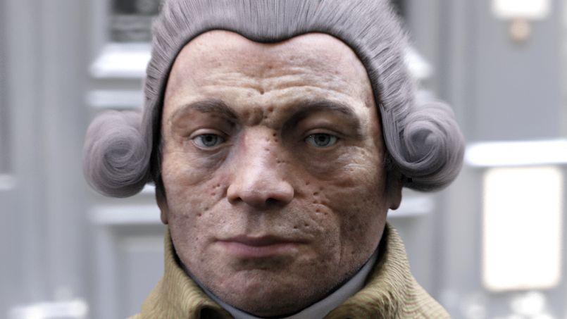 Les scientifiques qui ont reconstitué le visage de Robespierre ont décidé de le coiffer d'une perruque, «car c'est ainsi que Robespierre est représenté dans les peintures de l'époque».