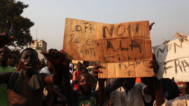 Importante manifestation antifrançaise à Bangui
