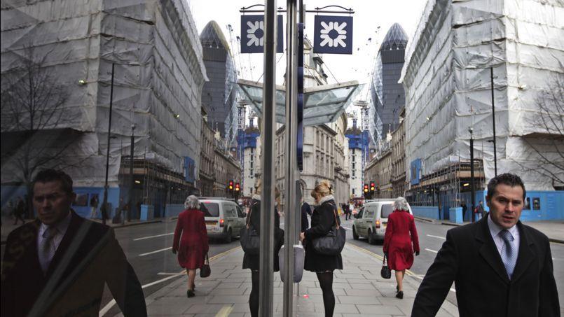 La City à Londres. «Le Royaume-Uni est attendu comme étant l'économie occidentale la plus dynamique après les États-Unis», juge le consultant privé britannique CEBR.