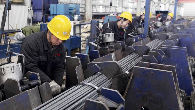 Une usine d'acier à Lianyungang, dans la province du Jiangsu à l'est de la Chine.
