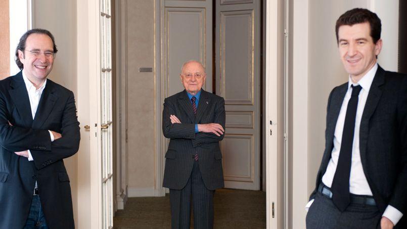 Xavier Niel, Pierre Bergé et Matthieu Pigasse.