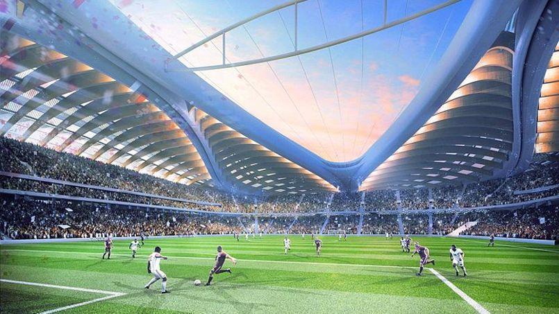 Le futur stade d'Al-Wakrah pour la Coupe du monde au Qatar en 2022