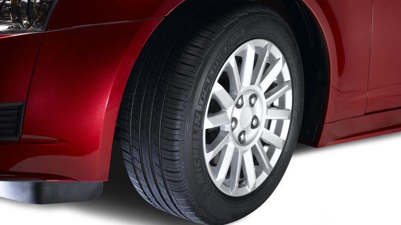 Le pneu «premier» de Michelin, qui présente la particularité de se régénérer, sera proposé sur le marché américain à partir du mois d'avril. Crédit: Michelin