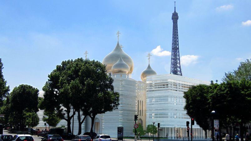 Projet du centre spirituel et culturel orthodoxe russe à Paris.