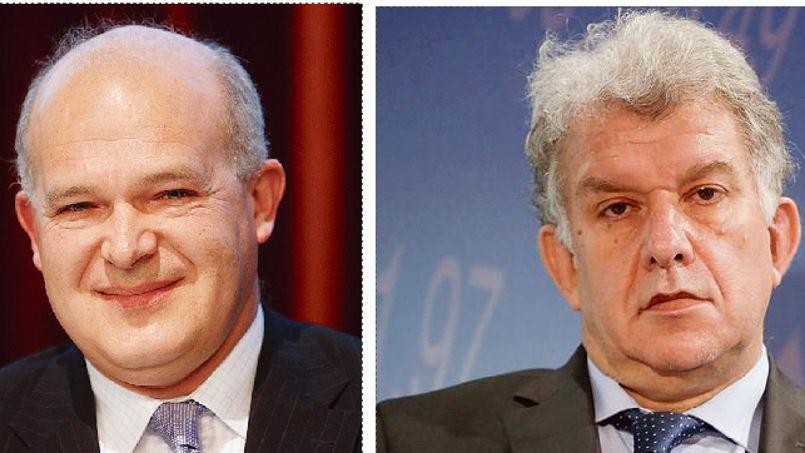 Séverin Cabannes, directeur général délégué de la Société générale (à gauche) et Yves Perrier, directeur général d'Amundi.