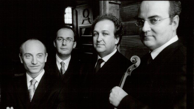 Les quatuor Ysaÿe. Yovan Markovitch, Miguel Da Silva, Guillaume Sutre et Luc-Marie Aguéra (de gauche à droite).