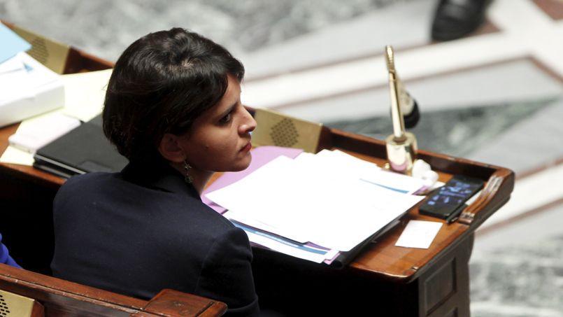 Najat Vallaud-Belkacem, ministre des Droits des femmes, lors des questions au gouvernement à l'Assemblée nationale, mardi à Paris.