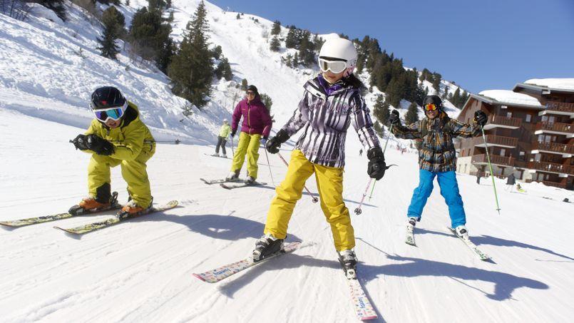 Quand on skie en famille, il arrive qu'on en perde un en route… (D. André/OT Méribel)