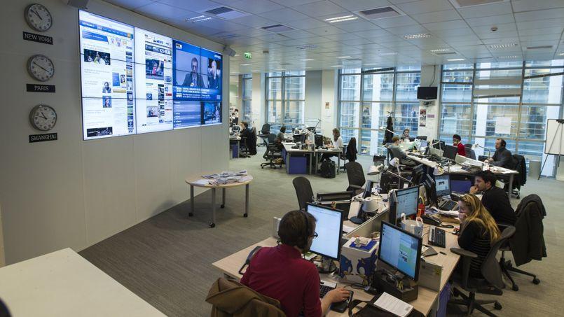 La Newsroom du site Lefigaro.fr.