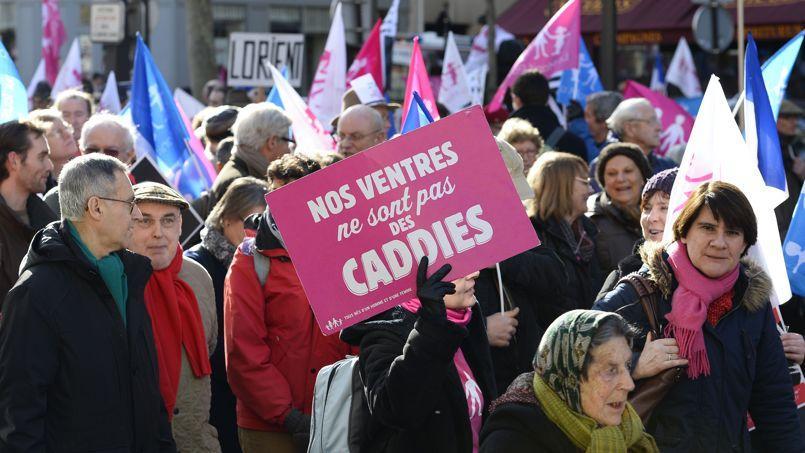 Défilé de la Manif pour tous, le 2 février.