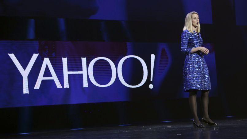 Marissa Mayer, PDG de Yahoo!, pendant la conférence du géant du Web au CES 2014 en janvier