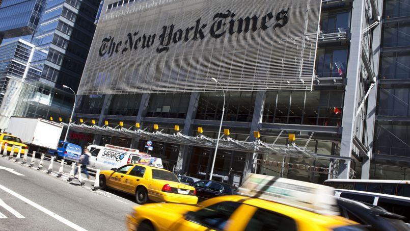 Le siège du New York Timessitué sur la 8th Avenue, à New York.