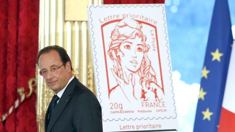 Le nouveau timbre, présenté à l'Élysée par François Hollande, avait été mis en circulation le 14 juillet 2013.