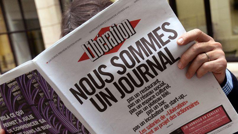 La Une de Libération ce week-end.